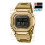 卡西欧手表 G-SHOCK  全金属IP涂层反显液晶屏 防震防水六局电波太阳能动力运动男表GMW-B5000GD-9PR
