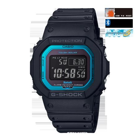 卡西欧手表 G-SHOCK 初代经典款追加表款 6局电波蓝牙太阳能动力防水防震运动男表GW-B5600
