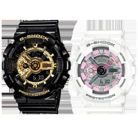卡西欧手表 情侣对表系列 时尚潮流防水防震运动对表GA-110GB-1A&GMA-S110MP-7A