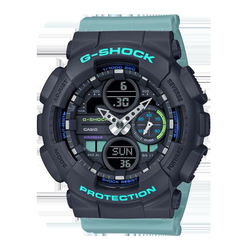 卡西欧手表 G-SHOCK  G-SHOCK 女士腕表 时尚个性 防水防震防磁运动男/女表GMA-S140