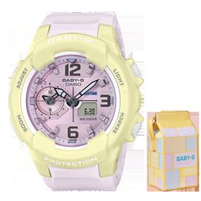 卡西欧手表 BABY-G 活力马卡龙系列 防水防震运动女表BGA-230PC