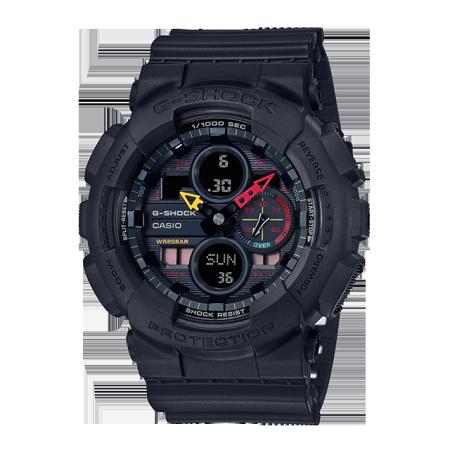 卡西欧手表 G-SHOCK 时尚设计 色彩元素主题  防水防震运动男表GA-140BMC-1APR