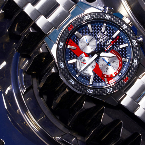 卡西欧手表 EDIFICE  EDIFICE x Toro Rosso限量款 防水 人造蓝宝石玻璃镜面 男表EFR-S567TR-2ADR