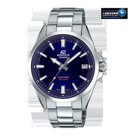 卡西欧手表 EDIFICE 简约设计 人造蓝宝石玻璃镜面 防水商务男表EFB-107