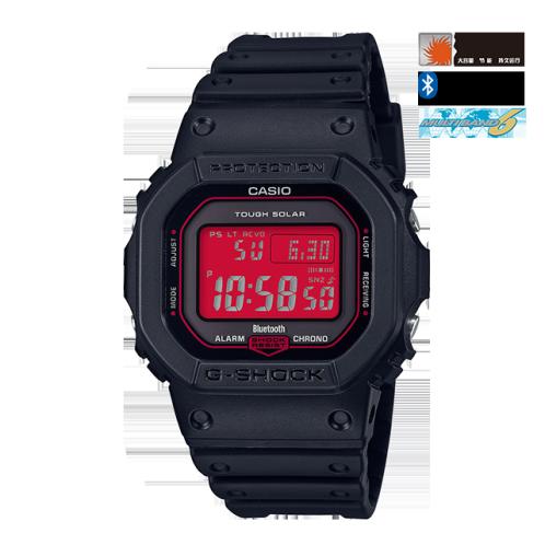 卡西欧手表 G-SHOCK  CITY BATTLE系列 红黑经典配色  防水防震运动男表GW-B5600AR-1PR
