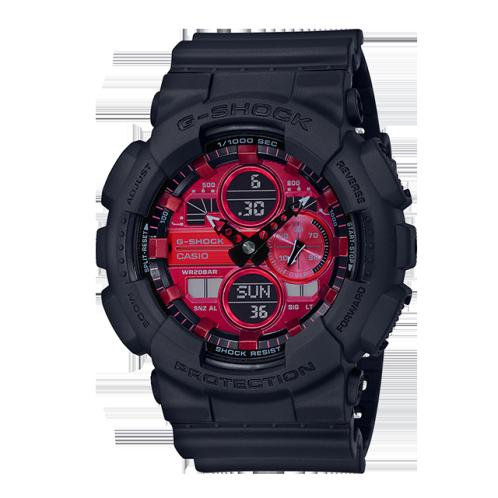 卡西欧手表 G-SHOCK  CITY BATTLE系列 红黑经典配色  防水防震运动男表GA-140AR-1APR