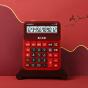 卡西欧计算器 语音机系列  语音机计算器 真人发音GY-120朱墙红
