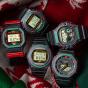 卡西欧手表 G-SHOCK  圣诞配色主题  复古风设计  防水防震运动男表DW-5700TH-1PR