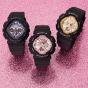 卡西欧手表 BABY-G  表盘大面积质感金属色 时尚经典 防水防震运动女表 BA-130