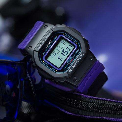 卡西欧手表 G-SHOCK  运动复古主题  特殊包装  配备替换表带  防水防震运动男表DW-5600THS-1PR