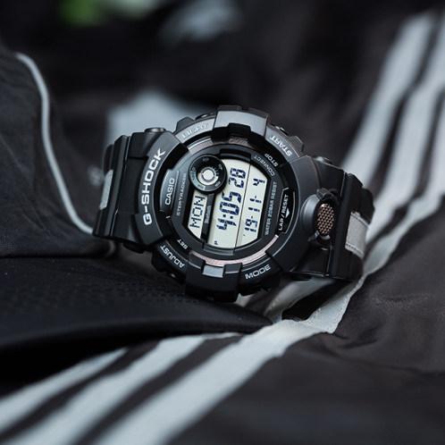 卡西欧手表 G-SHOCK  反光及蓄光表带材质设计  防水防震蓝牙连接多功能计步器运动男表GBD-800LU