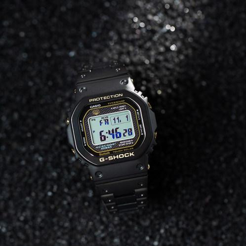 卡西欧手表 G-SHOCK  全新B5000系列钛金属表款 人造蓝宝石玻璃镜面  防水防震蓝牙连接六局电波太阳能动力运动男表GMW-B5000TB-1PR