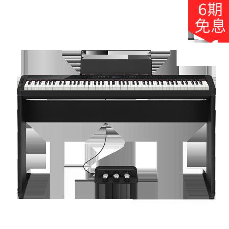 卡西欧电子乐器 电钢琴 纤薄时尚智能个性电钢琴 PX-S3000BK (含琴架+三踏板) 三角钢琴音效便携不插电电钢琴 多重演奏功能舞台表演级电钢琴