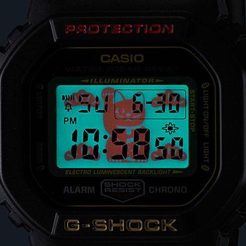 卡西欧手表 G-SHOCK  招财猫主题款 防水防震男表 特殊表盒DW-5600TMN-1DR/DW-5600TMN-7DR