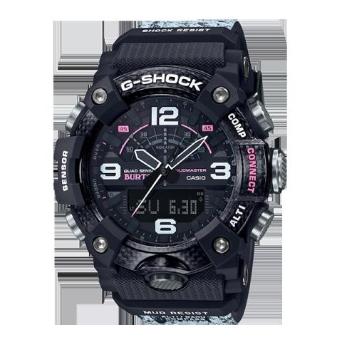 卡西欧手表 G-SHOCK 【新品】与知名滑雪品牌BURTON的合作款  雪树主题设计  防水防震运动男表GG-B100BTN-1APR