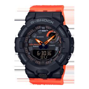 卡西欧手表 G-SHOCK 中性设计风格 霓虹色彩表带 防水防震运动女表GMA-B800SC