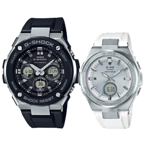 卡西欧手表 情侣对表系列 时尚潮流防水防震运动对表GST-W300-1APR&MSG-S200-7APRT