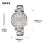 卡西欧手表 SHEEN  中国区限定 人造蓝宝石玻璃镜面 防水优雅女表 蜜桃金PEACH GOLD SHE-3514