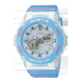 卡西欧手表 BABY-G 珊瑚礁保护组织合作款 防水防震女表BGA-270AQ-2APR