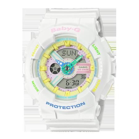 卡西欧手表 BABY-G 夏日配色 时尚活力 防水防震运动女表BA-110TM