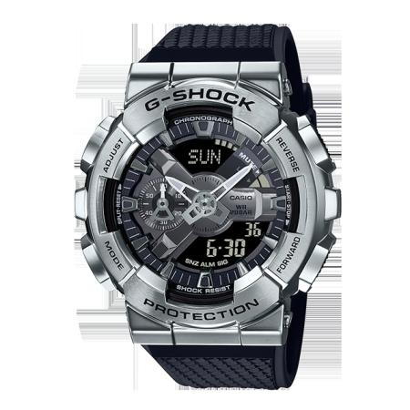 卡西欧手表 G-SHOCK 金属表壳 防水防震防磁运动男表GM-110