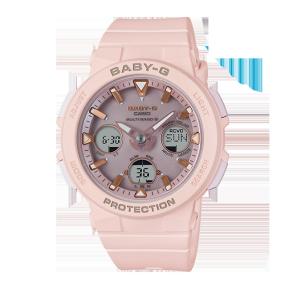 卡西欧手表 BABY-G 海滩旅行系列 防震防水六局电波太阳能动力运动女表BGA-2500