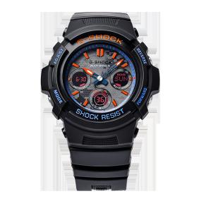 卡西欧手表 G-SHOCK CITY BATTLE炫夜之战主题系列  防水防震运动表款AWG-M100SCT-1APRW