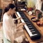 卡西欧电子乐器 电钢琴  88键渐进式击弦键盘  初学入门便携电钢琴双钢琴模式(单机版)CDP-S150BK