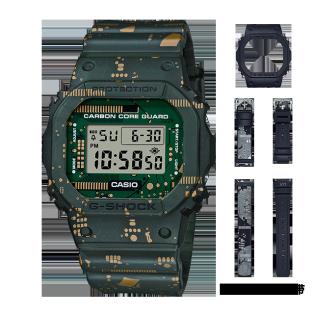 卡西欧手表 G-SHOCK 全新耐冲击可换装款 3款表带2款表壳 防水防震运动表款DWE-5600CC-3PR