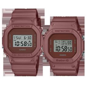 卡西欧手表 对表系列 防水防震地球色调户外系列对表DW-5600ET-5PR&BGD-560ET-5PR