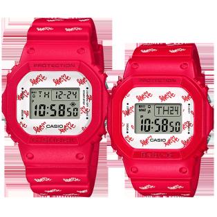 卡西欧手表 对表系列 2020年圣诞限定对表  特殊包装特殊背刻防水防震运动表款LOV-20B-4PR
