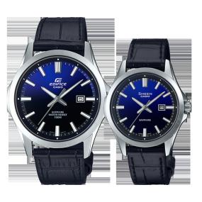 卡西欧手表 对表系列 人造蓝宝石玻璃镜面防水情侣对表EFB-106L-2A&SHE-4542L-2A
