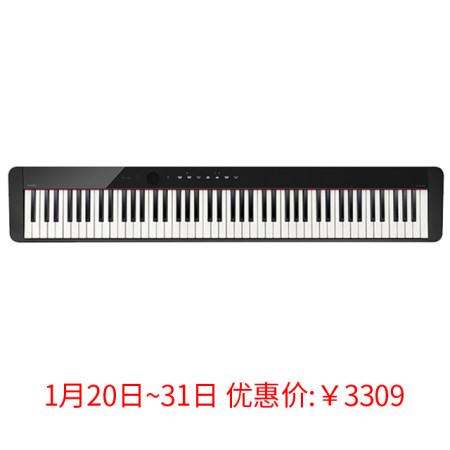 卡西欧电子乐器 电钢琴 纤薄时尚智能个性电钢琴 三角钢琴音效便携电钢琴(单机版)PX-S1000