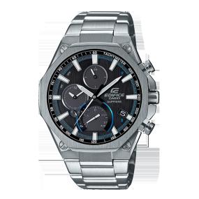 卡西欧手表 EDIFICE 八角形表圈 人造蓝宝石玻璃镜面 防水太阳能动力蓝牙连接商务男表EQB-1100YD