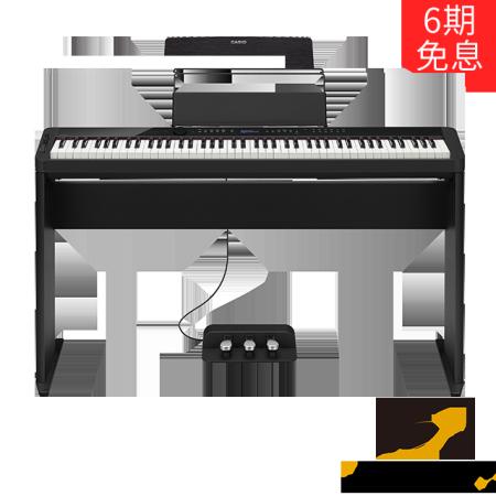 卡西欧电子乐器 电钢琴 纤薄时尚智能个性电钢琴 三角钢琴音效便携不插电电钢琴 多重演奏功能舞台表演级电钢琴(含琴架+三踏板)PX-S3000BK
