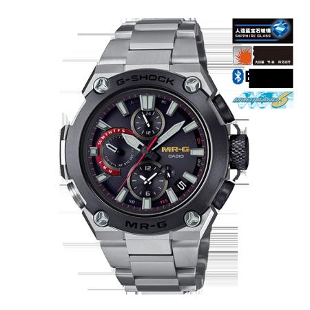 卡西欧手表 G-SHOCK MR-G系列 强韧外观 颠覆之作 人造蓝宝石玻璃镜面 防水防震六局电波太阳能动力男表MRG-B1000D-1ADR