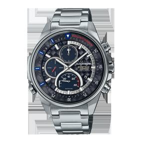 卡西欧手表 EDIFICE ALPHATAURI联名款 碳纤维表圈与表盘 人造蓝宝石玻璃镜面太阳能动力防水商务男表EFS-S590AT-1APR