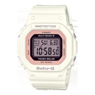 卡西欧手表 BABY-G 简约时尚 6局电波太阳能动力防水防震运动女表BGD-5000
