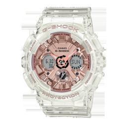 卡西欧手表 G-SHOCK 透明表款 玫瑰金表盘设计 防水防震运动女表GMA-S110SR/S120SR