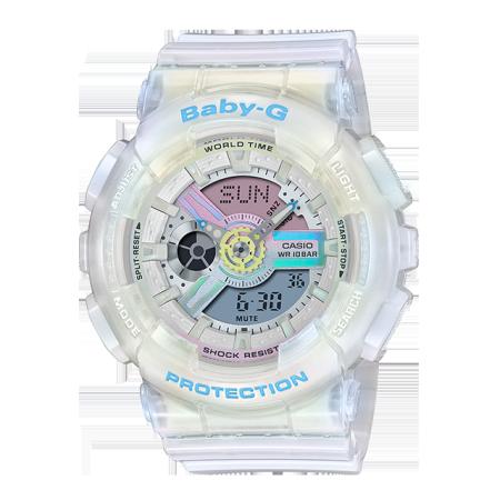 卡西欧手表 BABY-G 夏日配色 时尚活力 防水防震运动女表BA-110PL