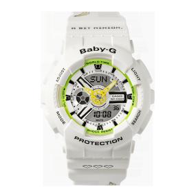 卡西欧手表 BABY-G 【新品】BABY-G|MINIONS合作款 特殊礼盒 复古潮流设计 防水防震运动表款BA-110MON21-7APRM