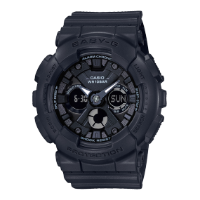 卡西欧手表 BABY-G 表盘大面积质感金属色 时尚经典 防水防震运动女表BA-130