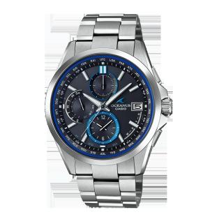 卡西欧手表 海神系列 强韧机芯人造蓝宝石玻璃镜面防水六局电波太阳能表款OCW-T2600-1AJF