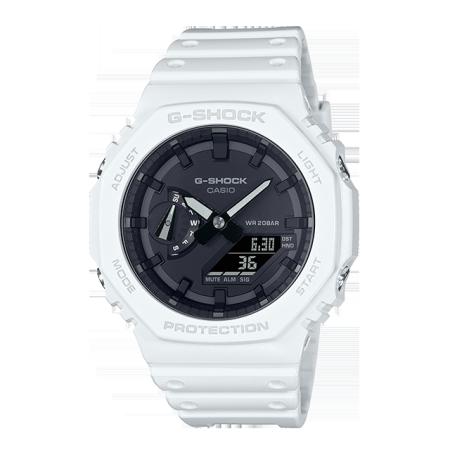 卡西欧手表 G-SHOCK 极简设计  外观八角形结构 双显轻薄表款 防水防震运动男表GA-2100