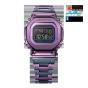 卡西欧手表 G-SHOCK  经典系列  B5000全新配色紫色表款  防震防水六局电波太阳能动力表款GMW-B5000PB-6PRT